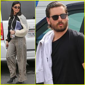 Kourtney Kardashian & Scott Disick Reunite to Film 'KUWTK'