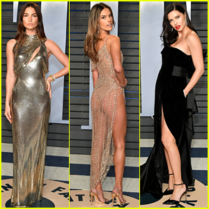 VS Angels Lily Aldridge, Alessandra Ambrosio, & Adriana Lima Wow at Oscars After Party!