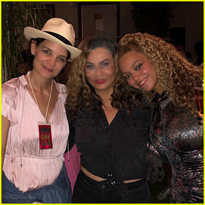 Beyonce's Mom Tina Posts Group Photo With Katie Holmes at Coachella!