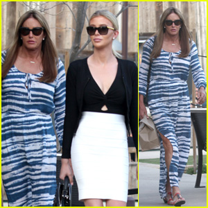Caitlyn Jenner Wears a Blue Dress While Out to Dinner With Sophia Hutchins in Malibu!