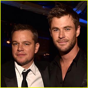 Chris Hemsworth Jokingly Threatens to Cancel Jimmy Kimmel Appearance Over Matt Damon Allegiance!
