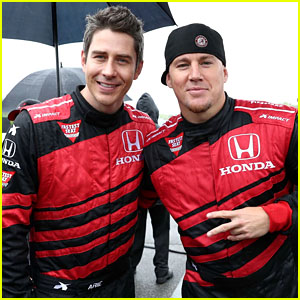 Channing Tatum Serves as Grand Marshal & Hangs With Arie Luyendyk Jr. at Honda Indy Grand Prix of Alabama!