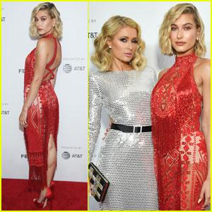 Hailey Baldwin Joins Paris Hilton at 'The American Meme' Premiere