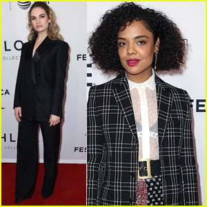 Lily James & Tessa Thompson Step Out for 'Little Woods' Premiere at Tribeca Film Festival