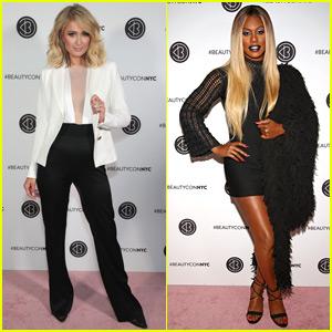 Paris Hilton & Laverne Cox Go Glam for BeautyCon NYC!