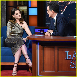 Anne Hathaway Explains Her 'Bad' First On-Screen Performance on 'Late Show' - Watch Here!