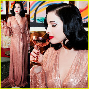 eb4279efd997 Dita Von Teese Hosts Cocktail Party to Celebrate Her Tour