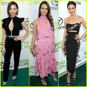 Jenna Dewan, Jordana Brewster, & Emmanuelle Chriqui Step Out for Environmental Media Awards 2018