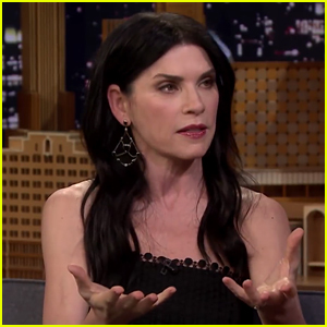 Julianna Margulies Picks Up Her Dog's Poop with Donald Trump Bags! (Video)