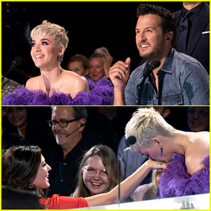 Katy Perry Gets Dragged Off 'Idol' Stage While Loving on Bachelorette Becca Kufrin