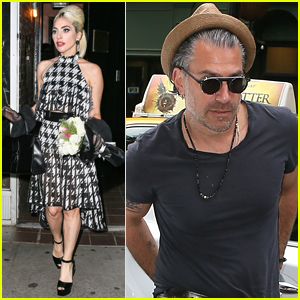 Lady Gaga is Joined by Boyfriend Christian Carino at the Studio!