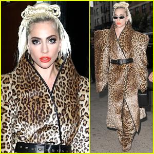 Lady Gaga Rocks Fierce Leopard-Print Outfit in NYC!