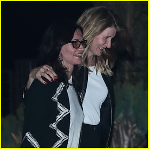 Laura Dern & Courteney Cox Giggle Together on a Girls' Night Out in Malibu!