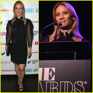 Lucy Liu Debuts Blonde Hair at the Obie Awards in NYC!