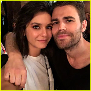 Nina Dobrev & Paul Wesley Have 'Vampire Diaries' Reunion!