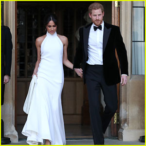 Meghan Markle Wows in Second Wedding Dress Alongside Dapper Prince Harry (Photos)