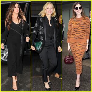 Sandra Bullock, Cate Blanchett & 'Ocean's Eight' Cast Surprise Fans at NYC Screening!