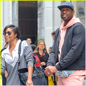Gabrielle Union & Dwyane Wade Check Out of Their Hotel in NYC