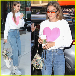 Gigi Hadid Spreads the Love While Heading Out in NYC