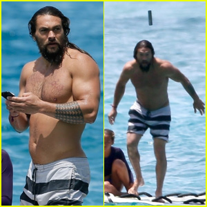 Shirtless Jason Momoa Tosses Phone Into the Sea & Dives In to Retrieve It in Hololulu!