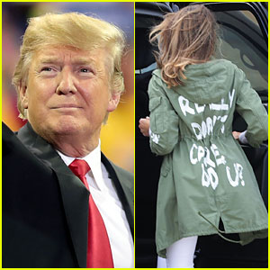 Celebrities React to Melania Trump's 'I Really Don't Care' Coat While Visiting Border