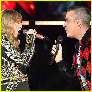 Taylor Swift & Robbie Williams Perform 'Angels' Duet at Her 'Reputation Tour' Concert in London!