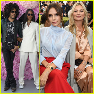 Victoria Beckham Joins Naomi Campbell & Kate Moss at Dior Homme Show in Paris!