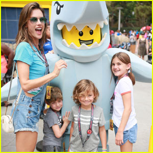 Alessandra Ambrosio & Her Kids Spend the Day at Legoland!