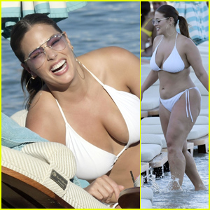 Ashley Graham Is All Smiles at the Beach in Mykonos!