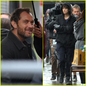 Jude Law & Blake Lively Film 'The Rhythm Section' in Dublin!