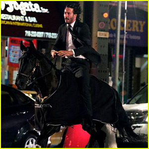Keanu Reeves Rides a Horse for 'John Wick 3'
