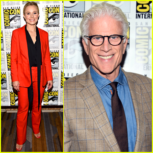 Kristen Bell & Ted Danson Promote 'The Good Place' Season 3 at Comic-Con