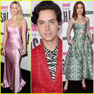 Lili Reinhart, Cole Sprouse, & Madelaine Petsch Show Off Their Style at EW's Comic-Con Bash!