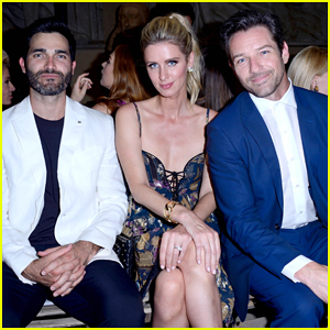Nicky Hilton Buddies Up with Tyler Hoechlin & Ian Bohen at Dundas Fashion Show!