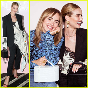 Rosie Huntington-Whiteley Supports Pal Suki Waterhouse at Launch of New Makeup Case!
