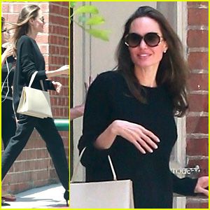 Angelina Jolie Flashes a Smile During Errands Run with Maddox