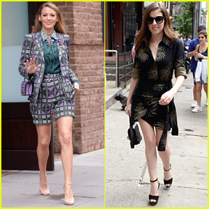 Blake Lively & Anna Kendrick Look So Stylish Promoting 'A Simple Favor' in NYC!