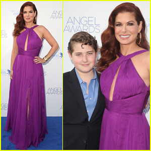 Debra Messing is Joined by Son Roman at Angel Awards 2018!