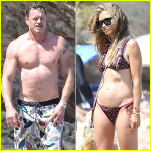 Exes Eric Dane & Rebecca Gayheart Spend a Day at the Beach With the Kids!