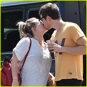 Pregnant Hilary Duff & Boyfriend Matthew Koma Share a Cute Kiss Before Lunch in Studio City!