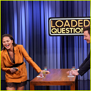 Chrissy Teigen Gives Rob Kardashian as Answer to a Mystery Question on 'Fallon'