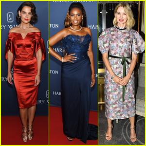 Katie Holmes, Jennifer Hudson, & Naomi Watts Stun at Harry Winston Jewelry Event!