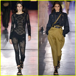 Kendall Jenner Goes Sheer For Alberta Ferretti Milan Fashion Show