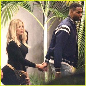 Khloe Kardashian & Tristan Thompson Hold Hands on Date Night in Studio City