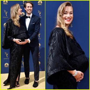 Handmaid's Tale's Yvonne Strahovski Accidentally Reveals Sex of Her Baby at Emmys 2018!