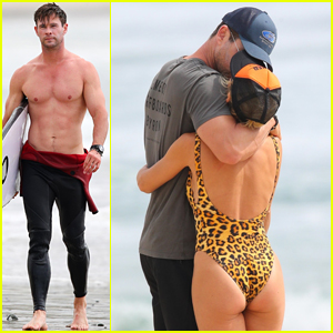 Chris Hemsworth Bares His Chiseled Shirtless Body, Shares Sweet Kiss with Elsa Pataky!