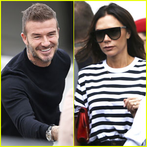 David & Victoria Beckham Touch Down in Australia With Their Kids
