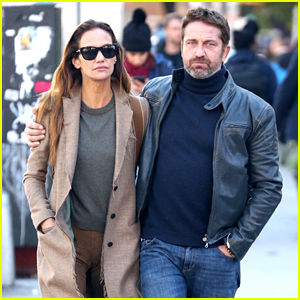 Gerard Butler Enjoys a Chilly Fall Day with Girlfriend Morgan Brown!