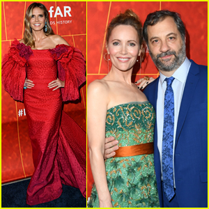 Heidi Klum Hits the Red Carpet Alongside Leslie Mann & Judd Apatow at amfAR Gala 2018