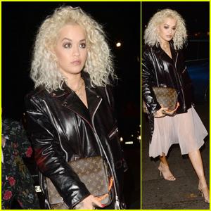 Rita Ora Makes a Chic Arrival to Elena Ora's Birthday Party in London!
